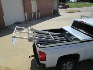 Frames loaded and headed to recycling center.
